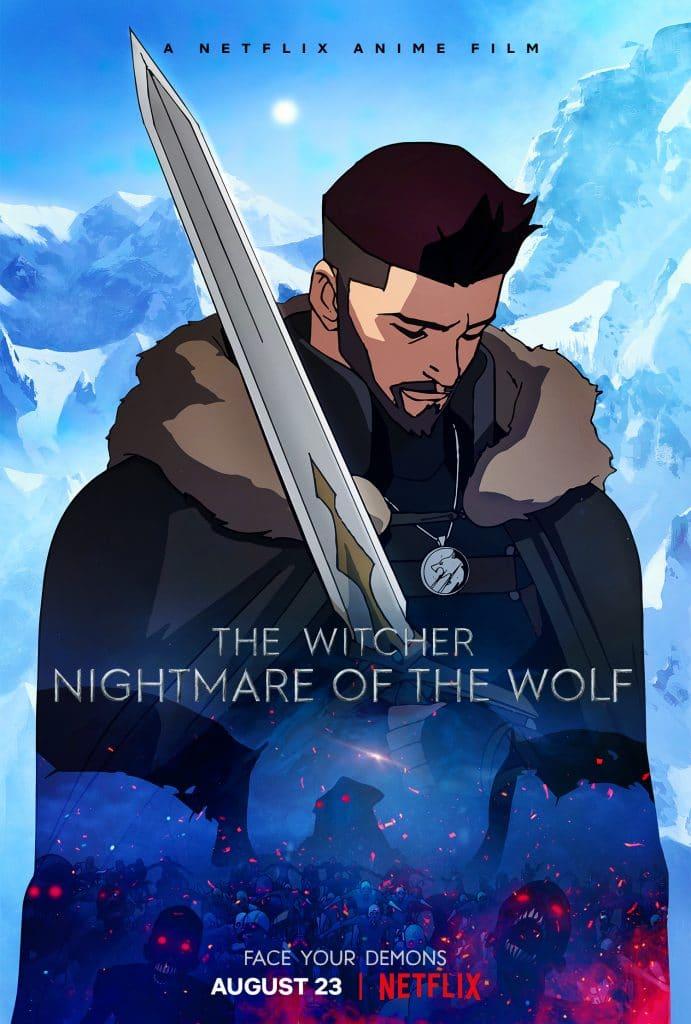 Os personagens de 'The Witcher: Lenda do Lobo'