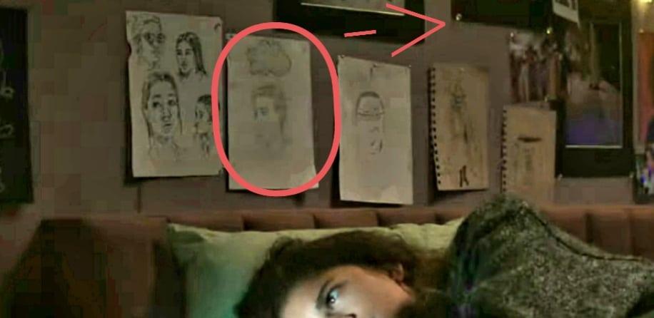 MJ desenha Peter Parker