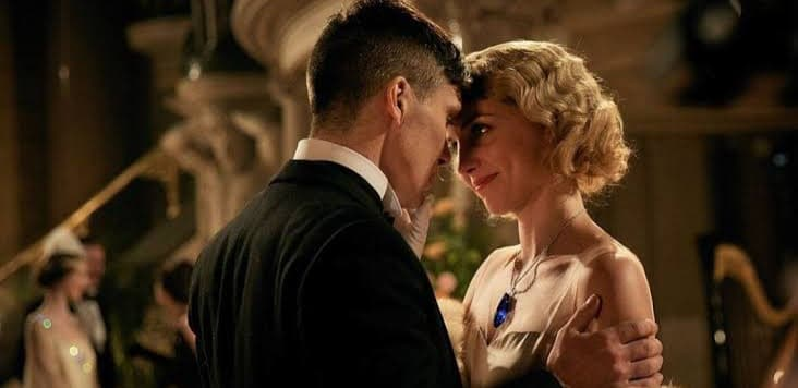 Thomas Shelby e Grace em Peaky Blinders da Netflix