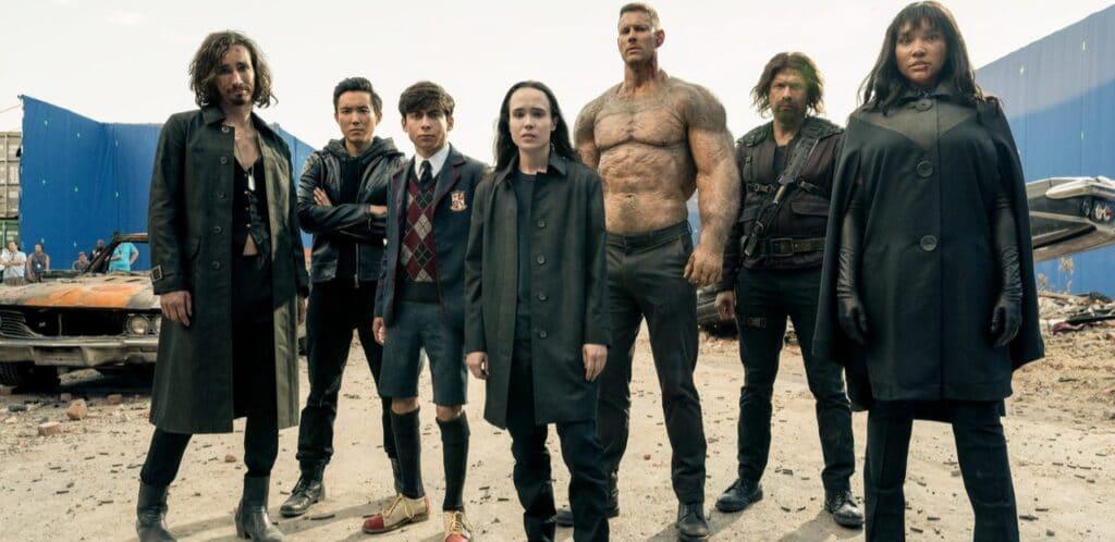 Os irmãos Hargreeves na 2ª temporada de The Umbrella Academy da Netflix