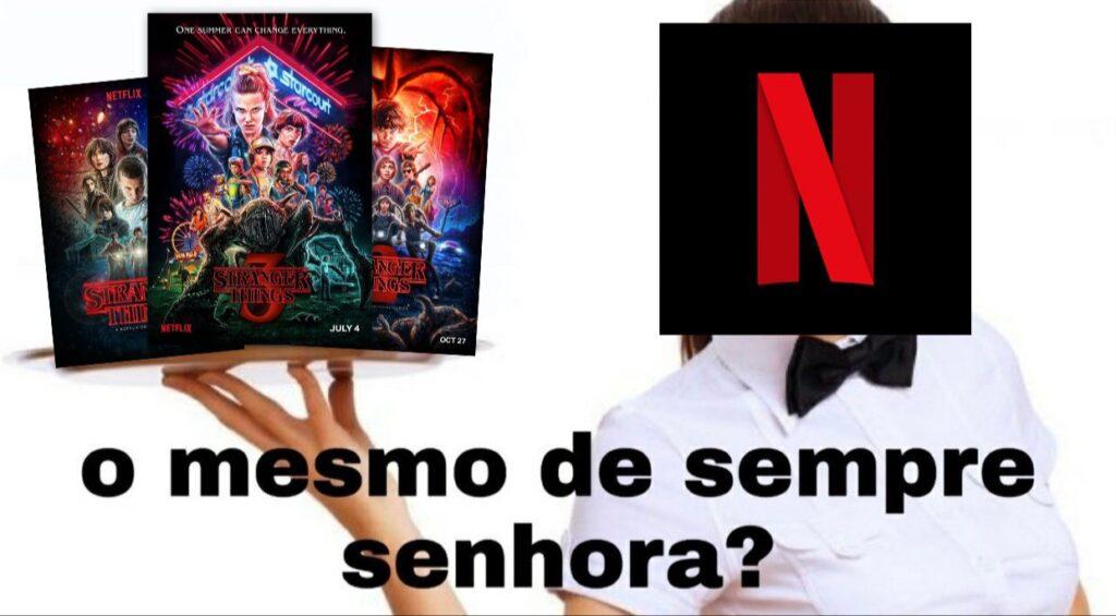 Meme da 4ª temporada de Stranger Things da Netflix