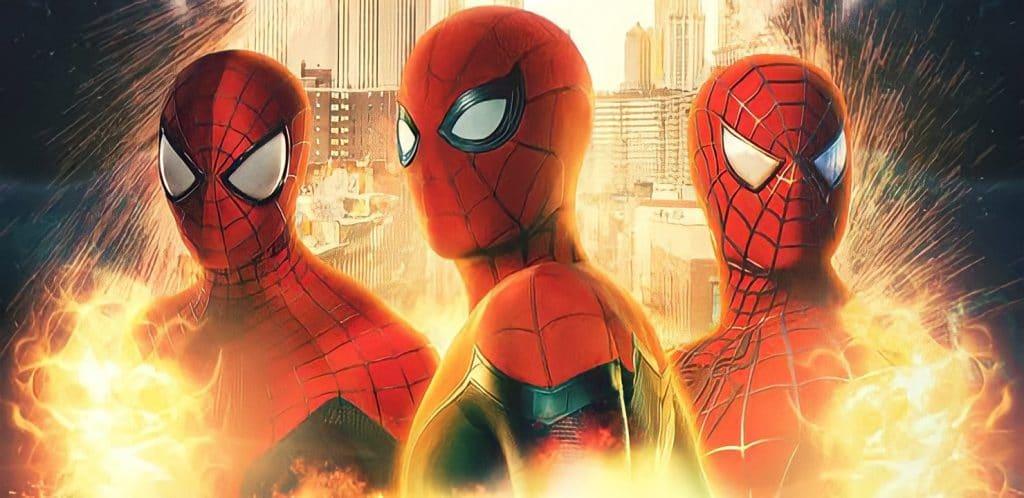 Tom Holland, Andrew Garfield e Tobey Maguire no Aranhaverso de Homem-Aranha: Sem Volta Para Casa