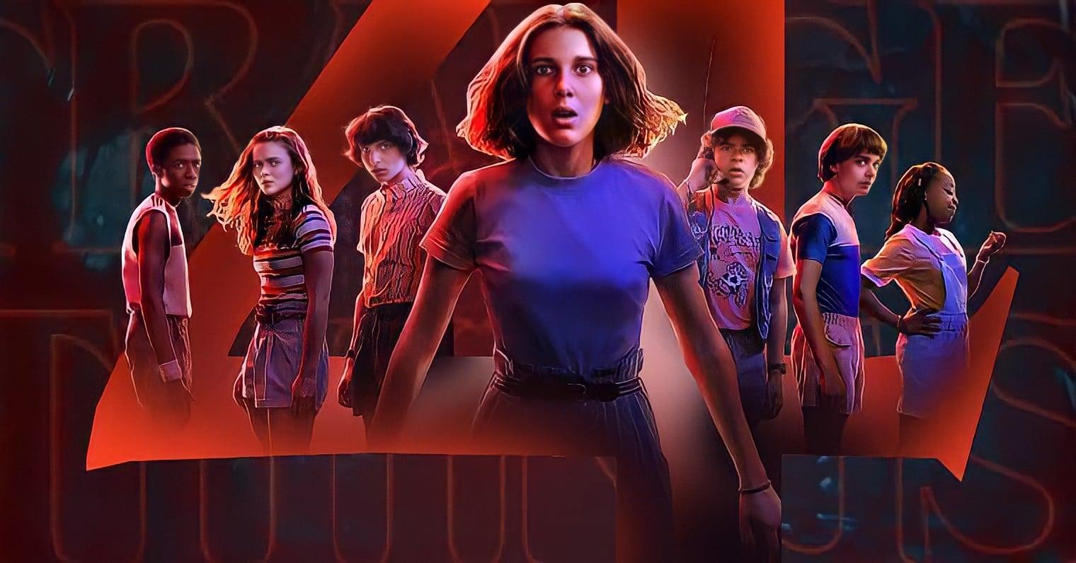 Logo e personagens da 4ª temporada de Stranger Things na Netflix