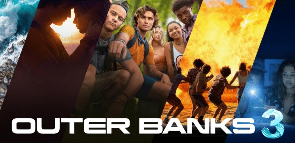 Cartaz da 3ª temporada de Outer Banks da Netflix