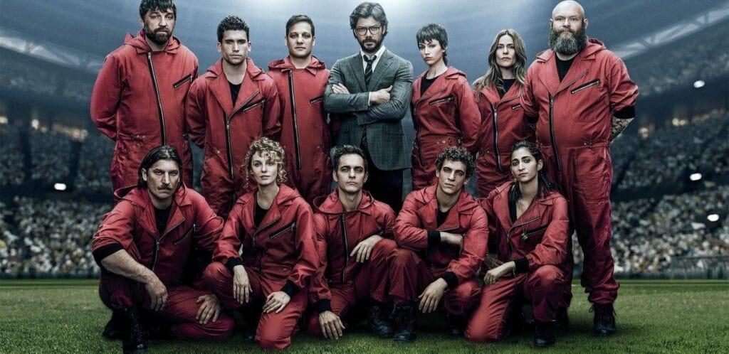 Os personagens principais da 5ª temporada de La Casa de Papel da Netflix