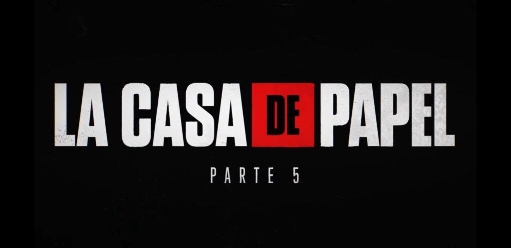 Logo oficial da 5ª temporada de La Casa de Papel da Netflix