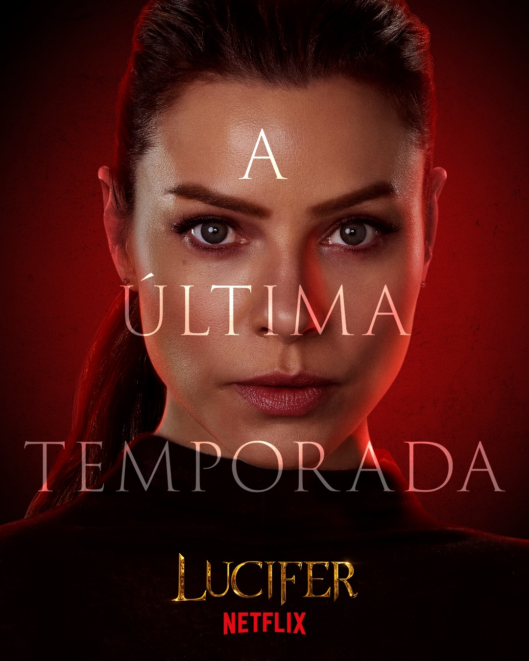 Pôster oficial de personagem da 6ª temporada de Lucifer da Netflix