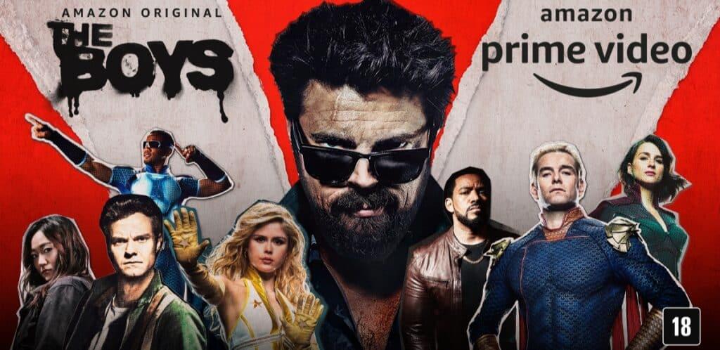 Banner com os personagens da 3ª temporada de The Boys do Amazon Prime Video