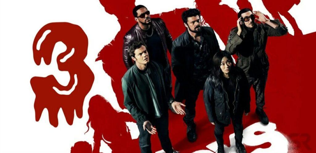 Banner com os protagonistas da 3ª temporada de The Boys do Amazon Prime Video