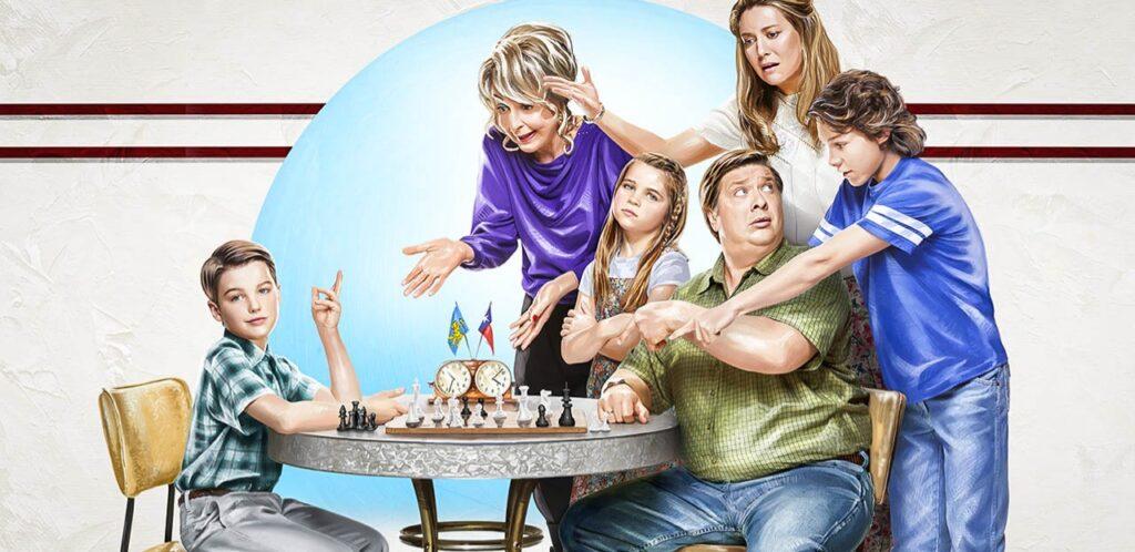 Banner para a 5ª temporada de Young Sheldon
