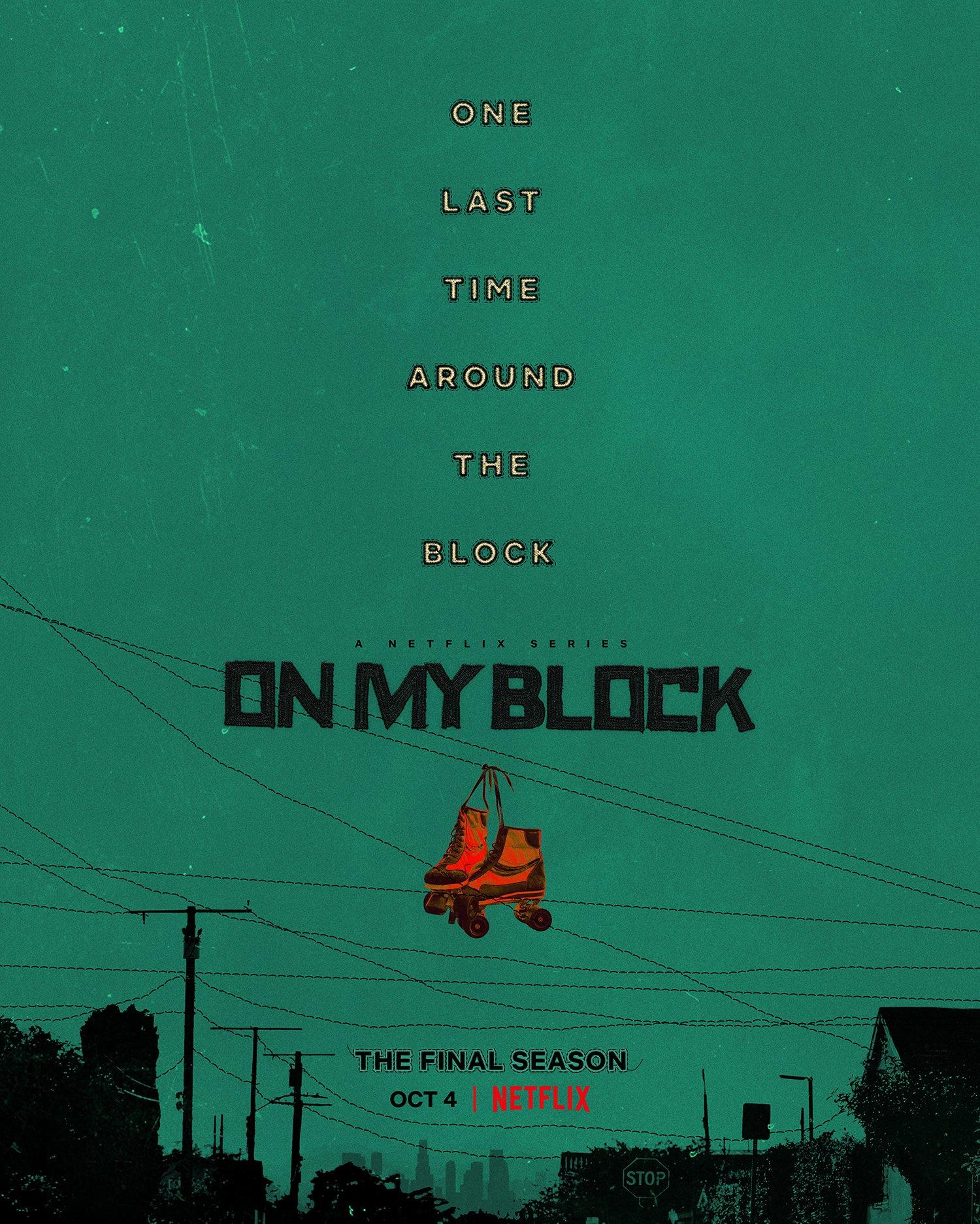 Poster oficial da 4ª temporada de On My Block da Netflix